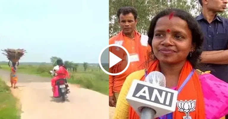 No car-safety. Chandana Baury is reaching the door of people sitting on bike