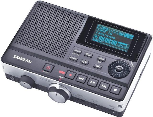 Многофункциональный цифровой рекордер Sangean DAR-101 сможет записать голос, музыку или телефонные разговоры в отличном качестве