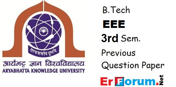 aku-b.tech-3rd-sem-eee-previous-paper