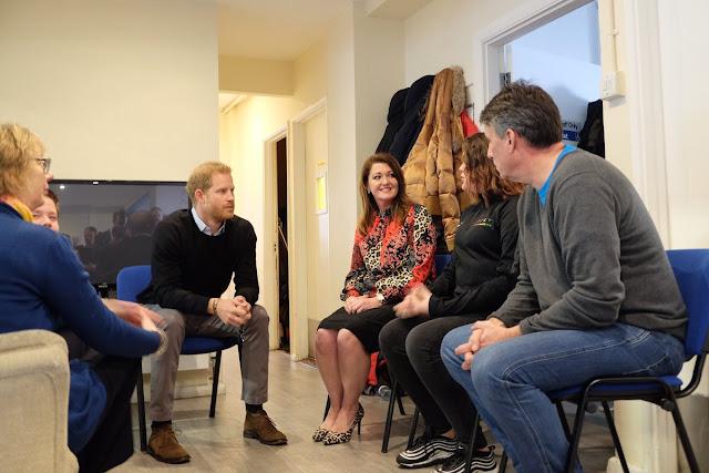 Wizyta księcia Harry'ego w John Corfield Centre