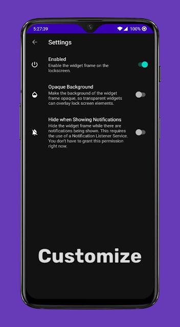 Lockscreen Widgets تطبيق جديد لوضع تطبيقات مصغرة على شاشة القفل