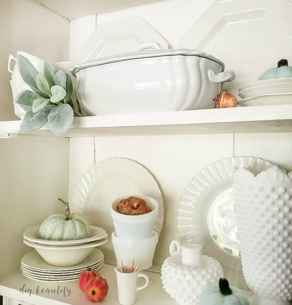 white dishes for fall