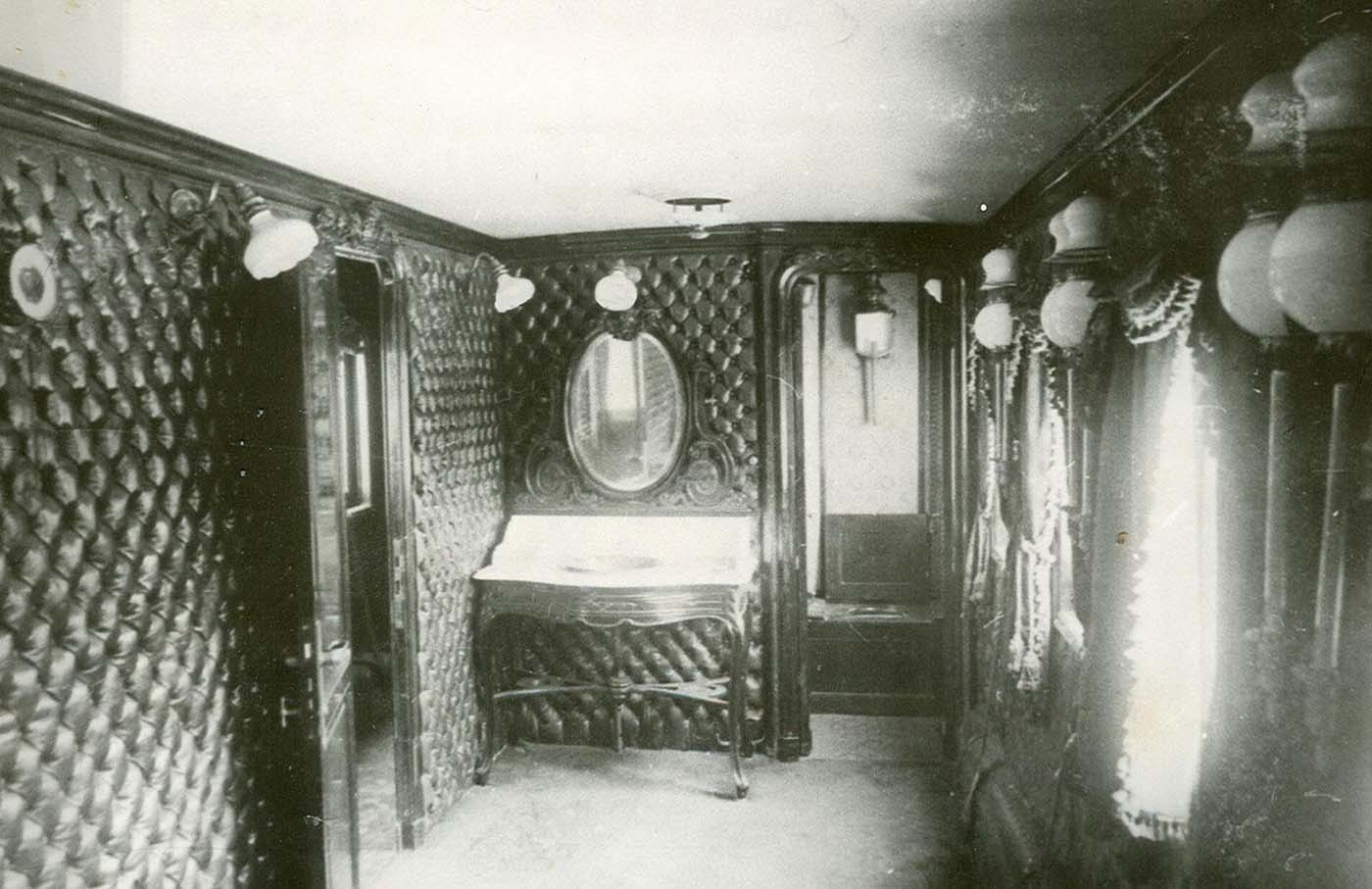 Interior view of one of the carriages.
