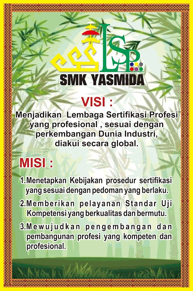 Desain Banner Visi Misi LSP SMK Yasmida
