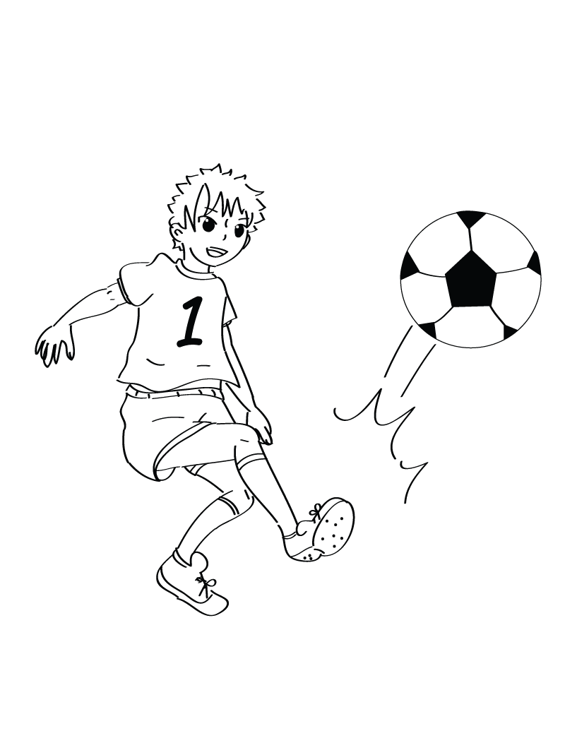 Sports Photograph Coloring Pages Kids: Soccer Ball