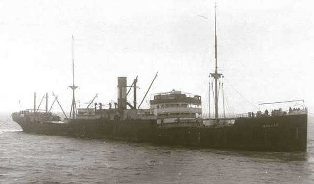 British freighter SS Empire Fusilier, sunk on 9 February 1942, worldwartwo.filminspector.com