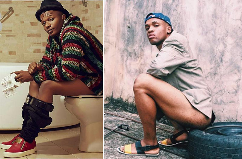 Nigerian boy gets blasted for recreating Wizkid's toilet pose