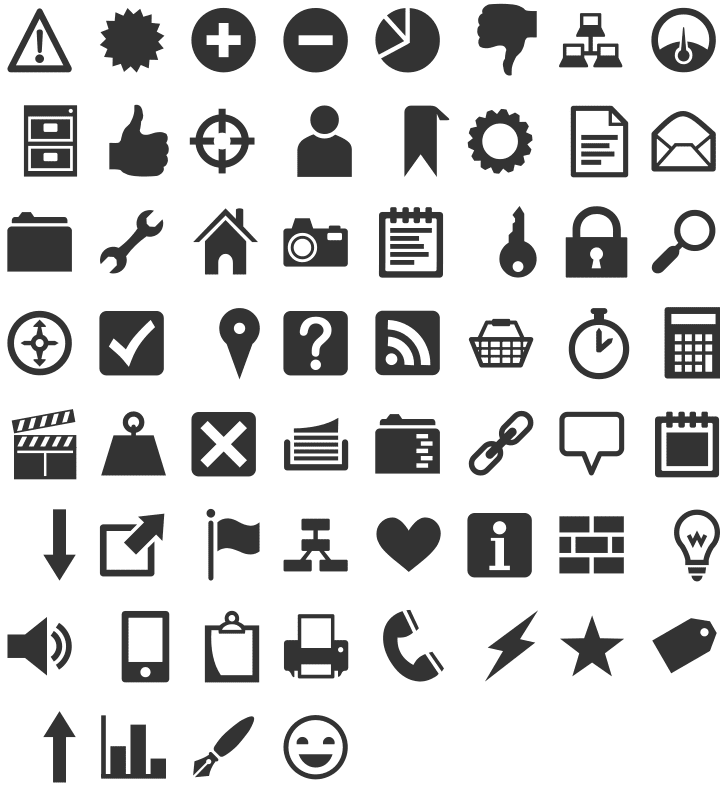 Heydings Common Icons fonts