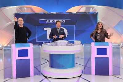 Tabet, Silvio e Tati (Crédito: Lourival Ribeiro/SBT)