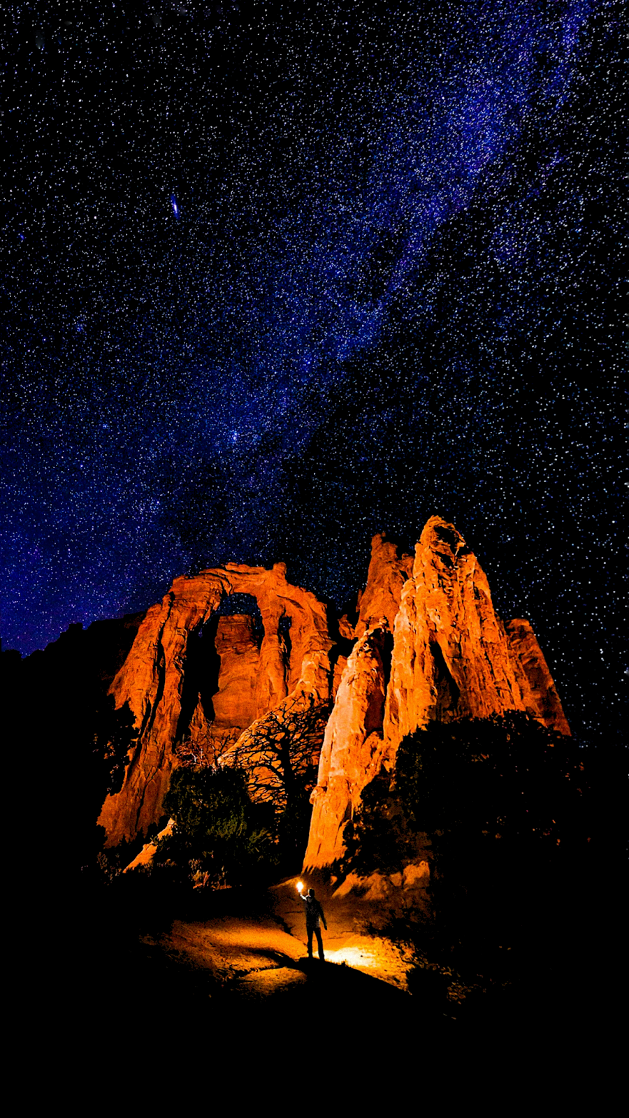 Night sky canyon