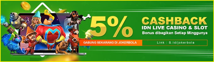 bonus cashback slot 5%