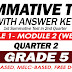 GRADE 5 SUMMATIVE TEST with Answer Key (Modules 1-2) 2ND QUARTER
