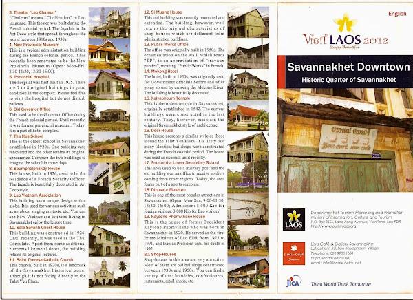 Mapa del centro histórico de Savannakhet
