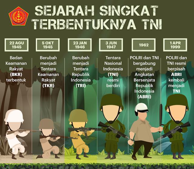 Sejarah Terbentuknya TNI : Tentara Nasional Indonesia