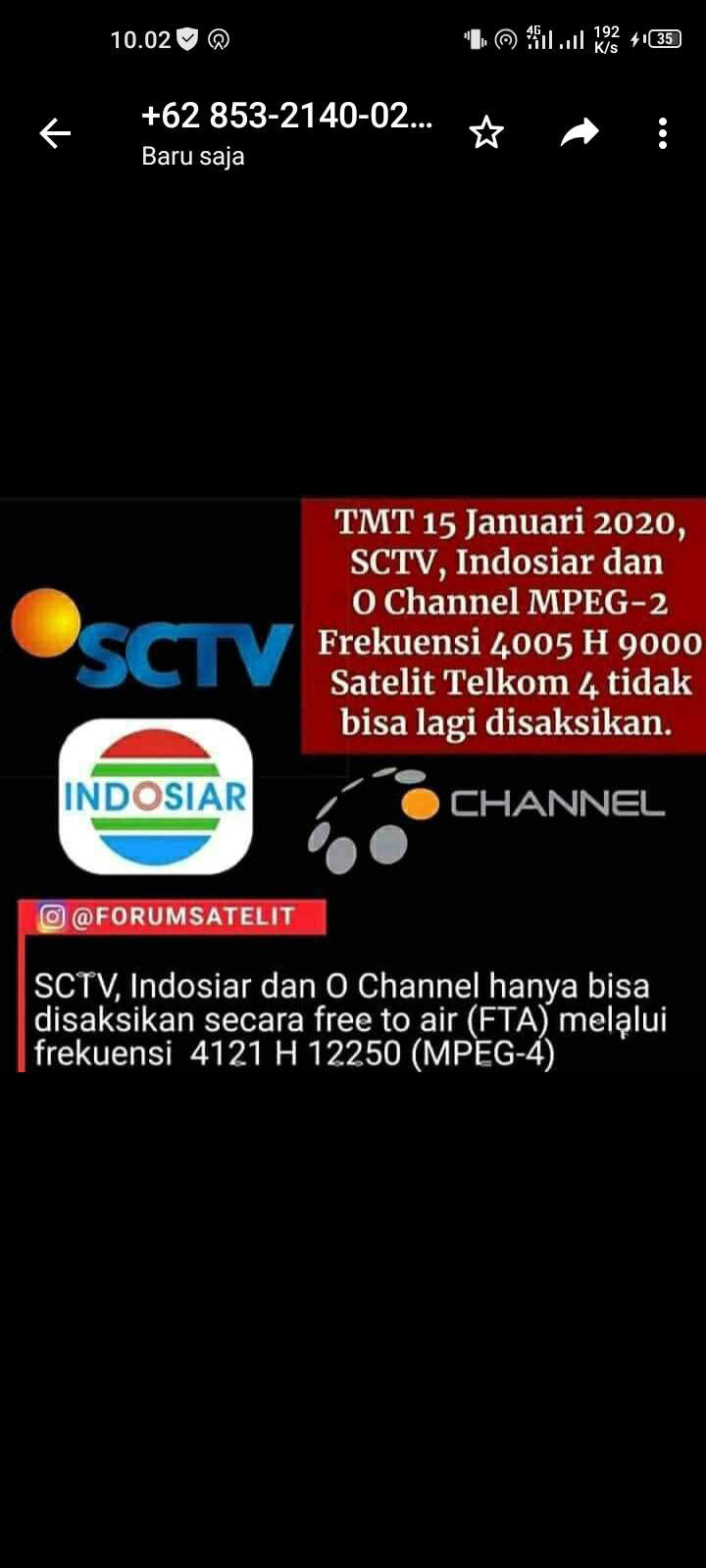 Frekuensi Sctv Baru : frekuensi, Frekuensi, Indosiar,, Pindah, Channel, 12250, MPEG4, Telkom, C-Band, Mulai, Januari, Aulaku