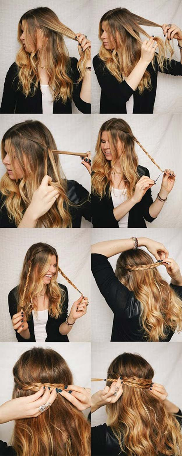 6 cutest easy braided hair tutorial in 10 minutes 3