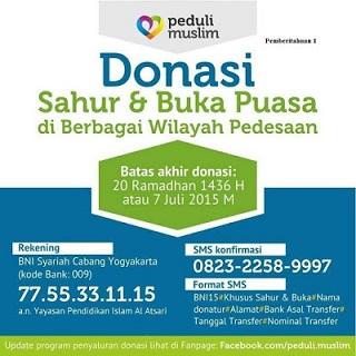 iklan pemberian donasi