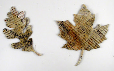 Stampers Anonymous Music Sizzix Tattered Leaves  For the Funkie Junkie Boutique