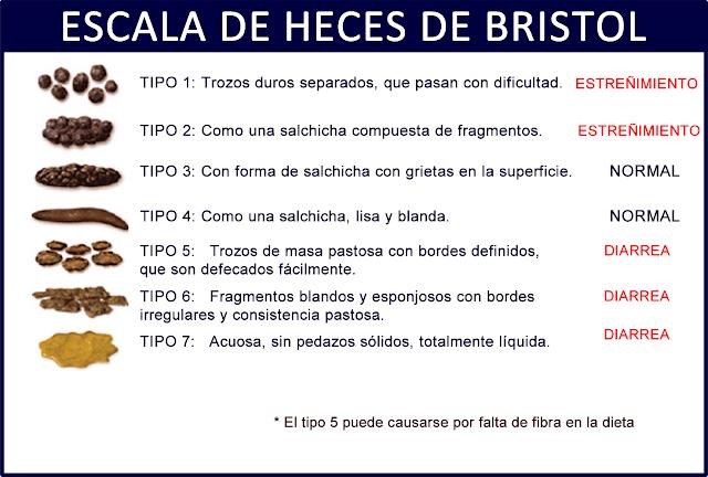 La Escala de Heces de Bristol
