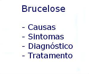 Brucelose causas sintomas diagnóstico tratamento prevenção riscos complicações