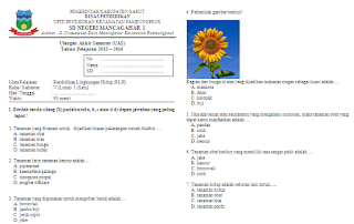 Soal UAS PLH Kelas 5 Semester 1