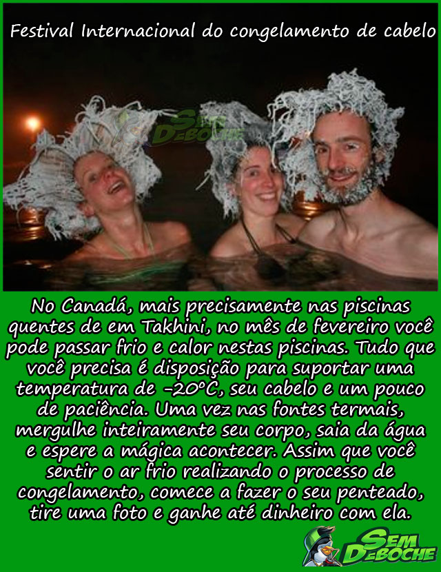 FESTIVAL INTERNACIONAL DO CONGELAMENTO DE CABELO