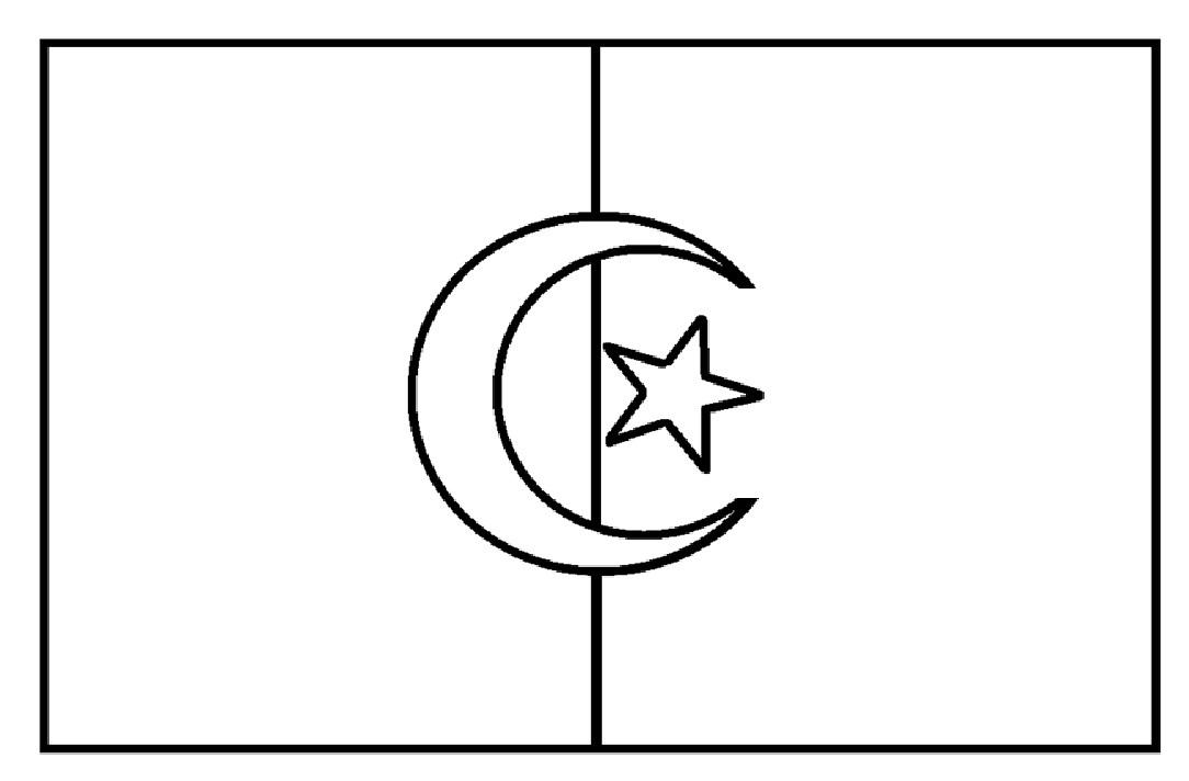 Mewarnai Gambar Mewarnai Gambar Sketsa Bendera Negara Aljazair