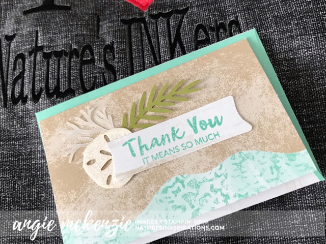 This is the card from the Paper Pumpkin June 2019 kit by Stampin' Up!® I left behind in my hotel room when I left!