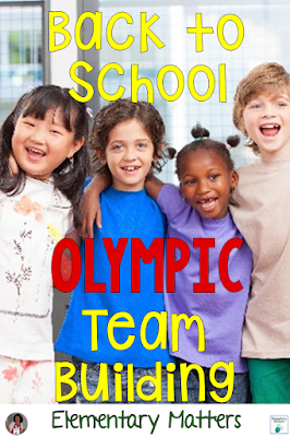 Back to School Olympic Team Building: Use a Summer Games theme to review skills from last year, work on team building skills, and have some fun!
