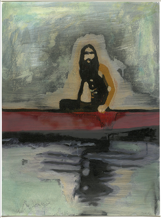 Peter Doig  100 years ago, 2002 Oil on paper 75.8 x 55.9 cm