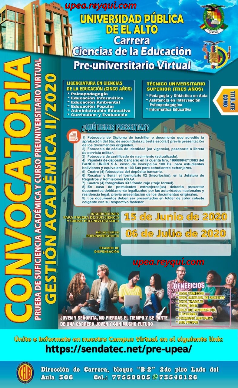 Convocatorias UPEA 2020