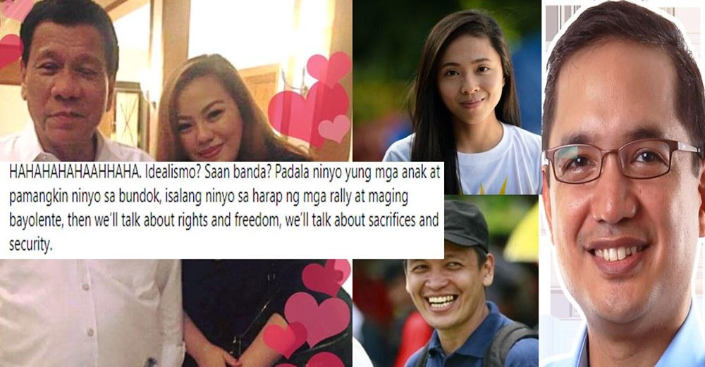 "PTN - HAHAHAHAHAAHHAHA. Idealismo? Saan banda?"" - Manila Bulletin writer to Leftist leaders Teddy Casino, Renato Reyes, Sarah Elago"