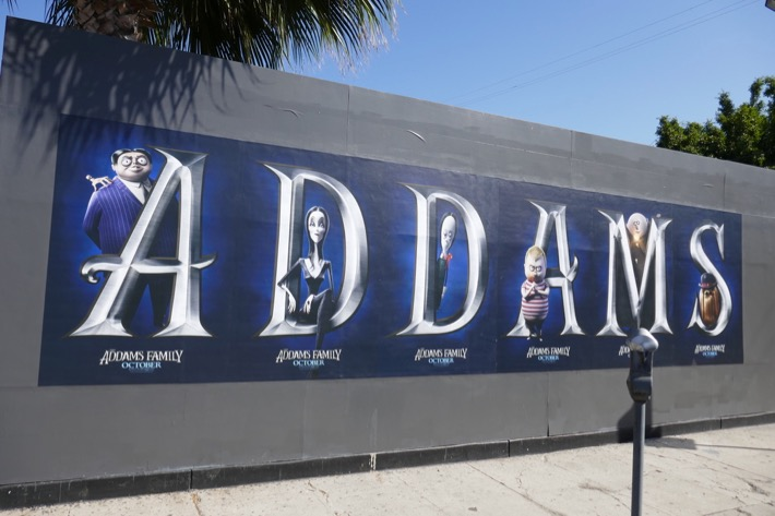 Addams Family street posters