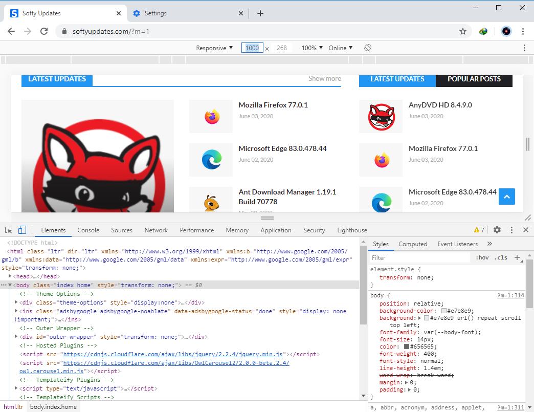 Google Chrome Browser 83.0.4103.97