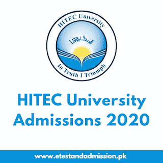 hitec university admissions 2020