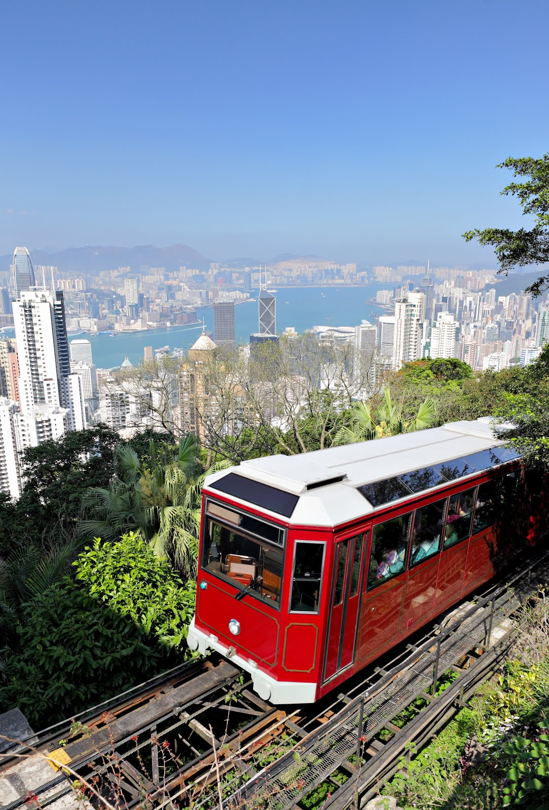 Hong Kong Skyline and the Peak Tram