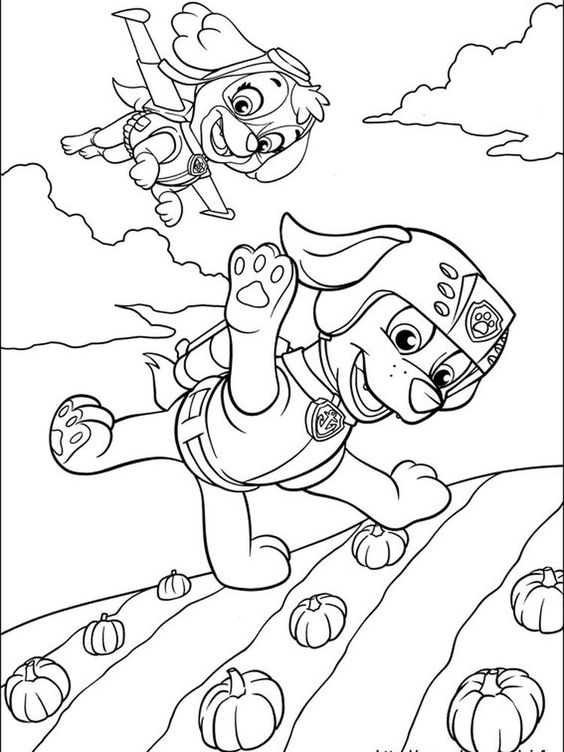 Paw patrol coloring pages 26