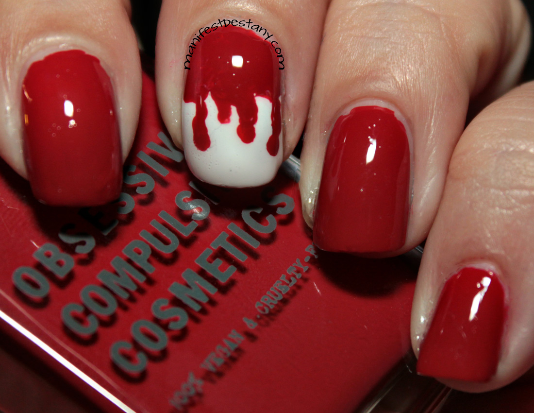 Some easy Halloween nail art with Obsessive Compulsive ...