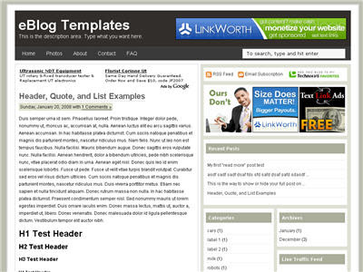 adsense optimized blogger template