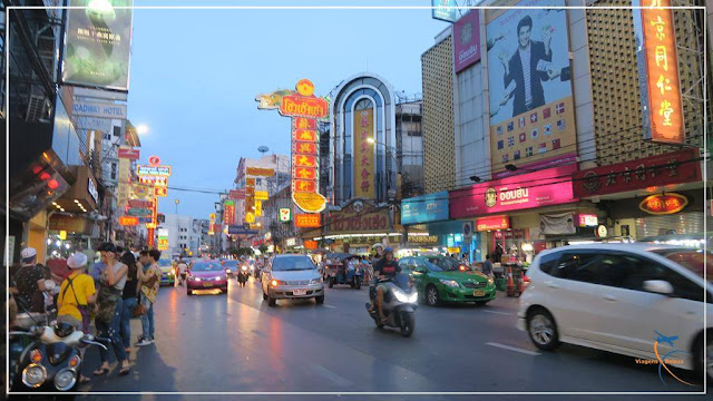 Chinatown em Bangkok, na Tailândia