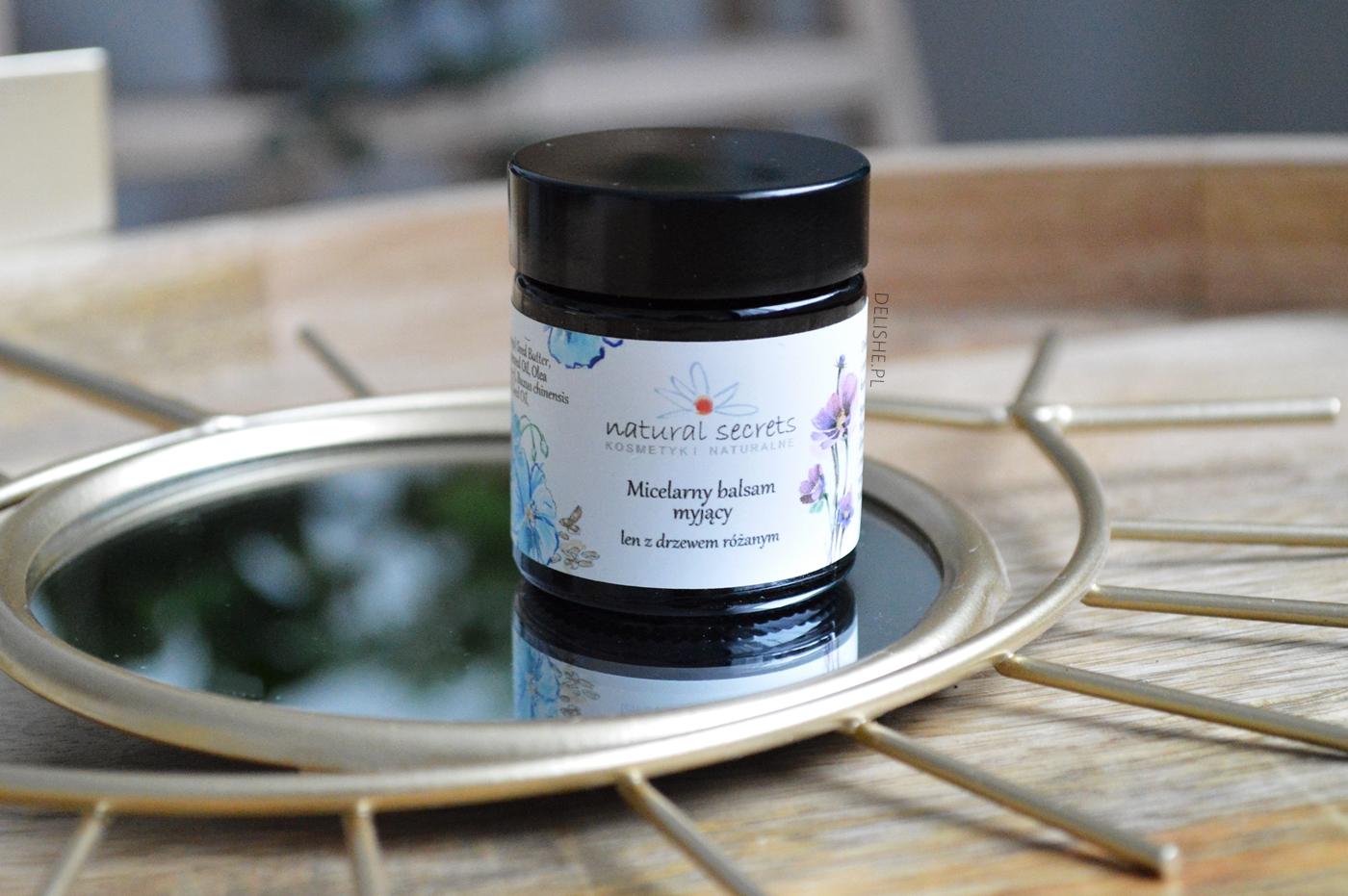 balsam myjący Natural secrets najlepsze olejki do doemakijażu