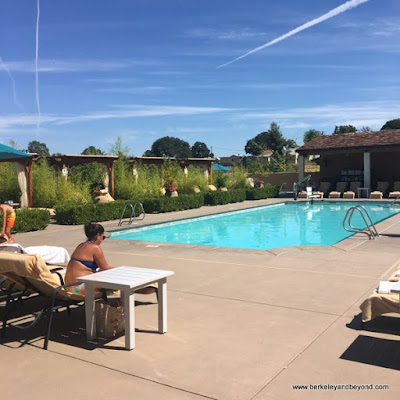 swimming pool and cabanas at Allegretto Vineyard Resort in Paso Robles, California