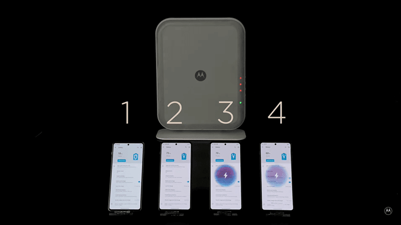 Motorola Air-Charging Technology recharges up to 4 devices, 10 feet away!