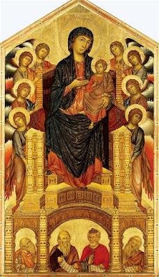 cimabue, Madonna in trono