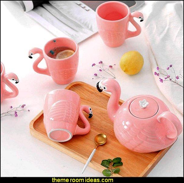pink Flamingo Teapot Ceramic Teapot Set Flamingo Teacup Set flamingo Ceramic Mug Flamingos Style: Unique novelty design