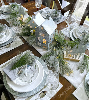 First Frost Theme Tablescape a featured post at Funtastic Friday @ Scratch Made Food! & DIY Homemade Household.