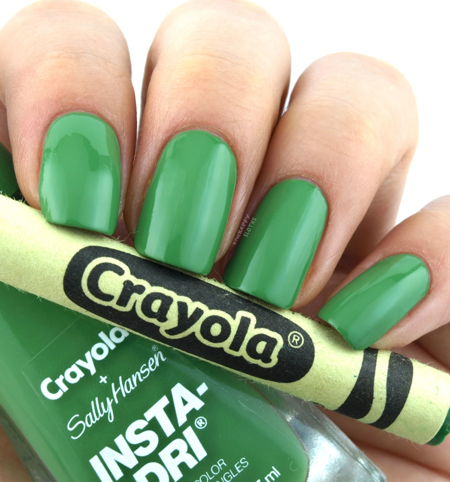 Sally Hansen + Crayola Collection | 506 Granny Smith Apple: Review and Swatches