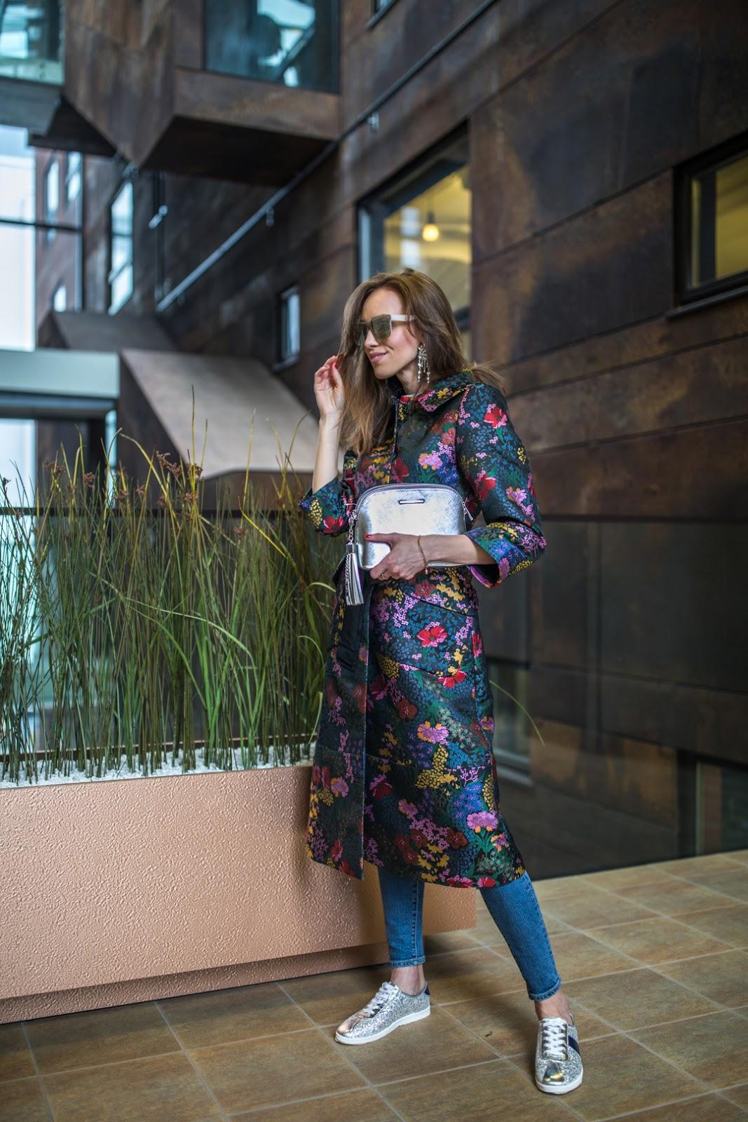 erdem floral coat outfit spring