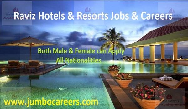 kovalam Hotel jobs and careers, raviz kovalam jobs