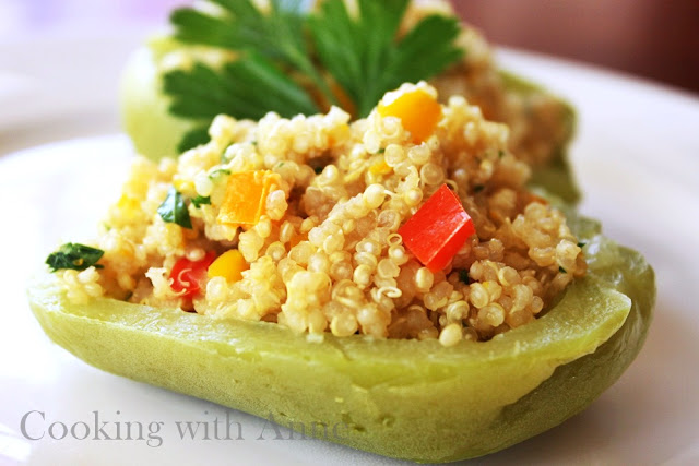 Quinoa Stuffed Chayote Squash